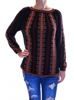 Pulover tricot cu model traditional3