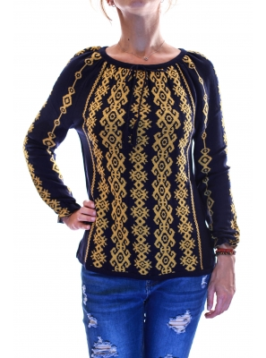 Pulover tricot cu model traditional4